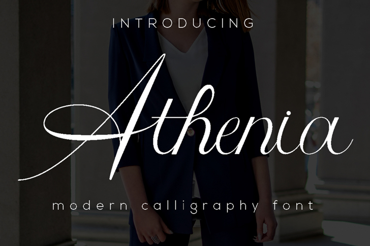 Athenia Font screenshot design