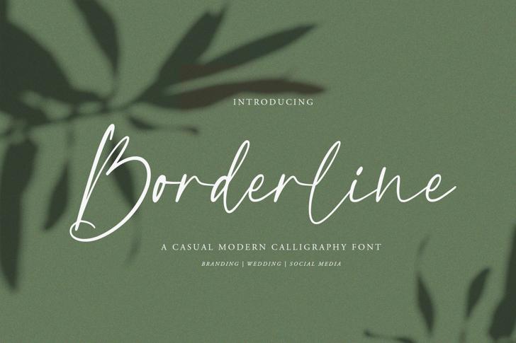 Borderline Font poster