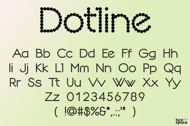 Dotline Font poster