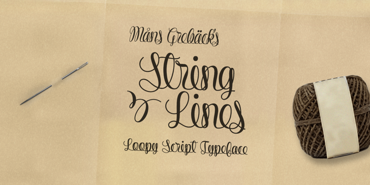 String Lines PERSONAL USE ONLY Font handwriting text