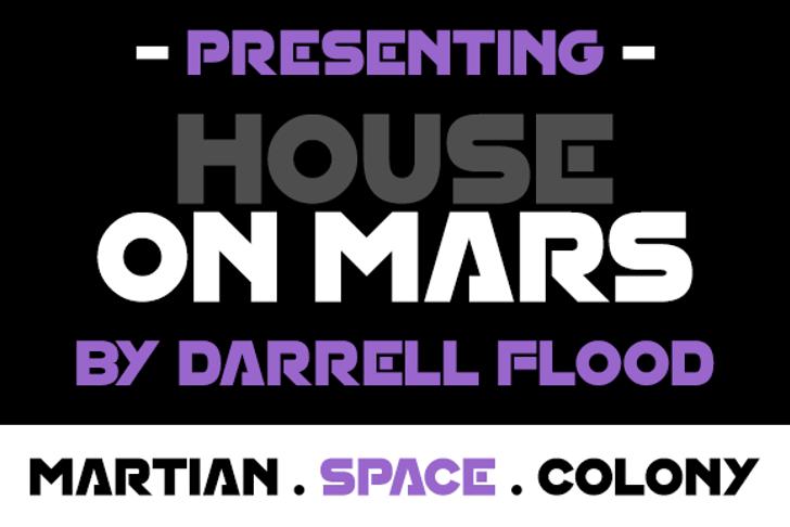 House On Mars Font screenshot poster