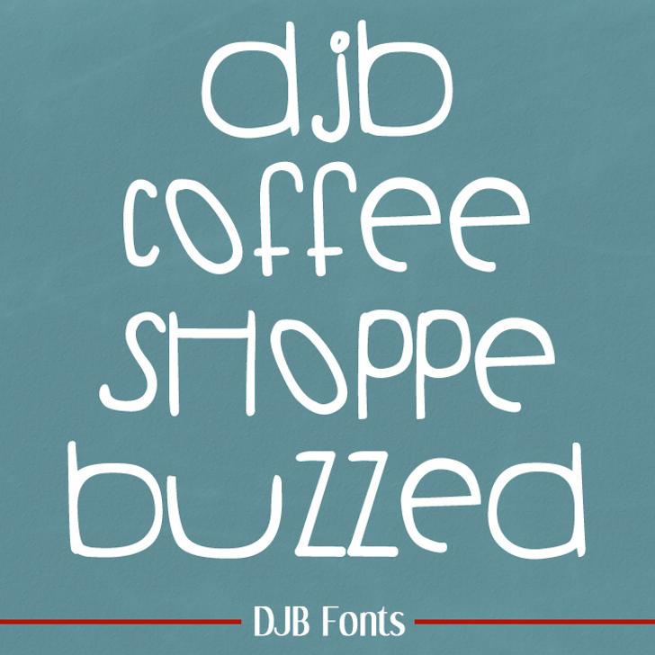 DJB COFFEE SHOPPE BUZZED Font blackboard handwriting