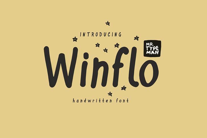 Winflo Font handwriting text
