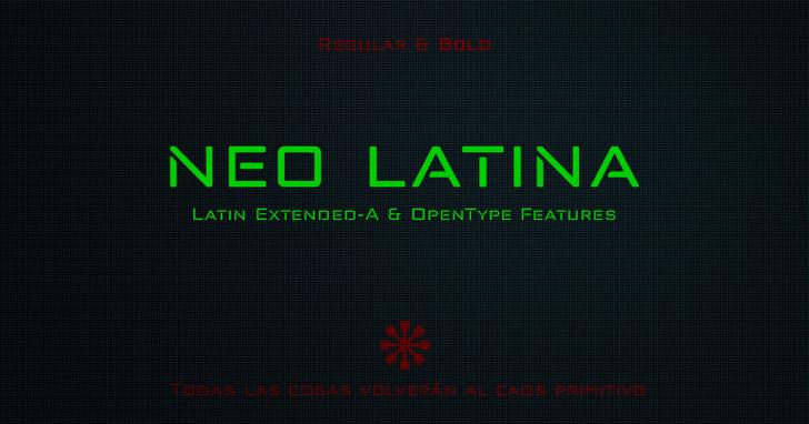 neo latina Font screenshot font