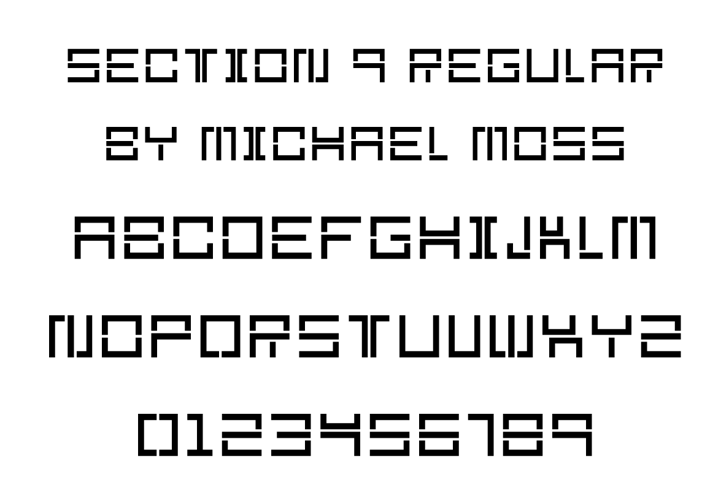 Section 9 Font design screenshot