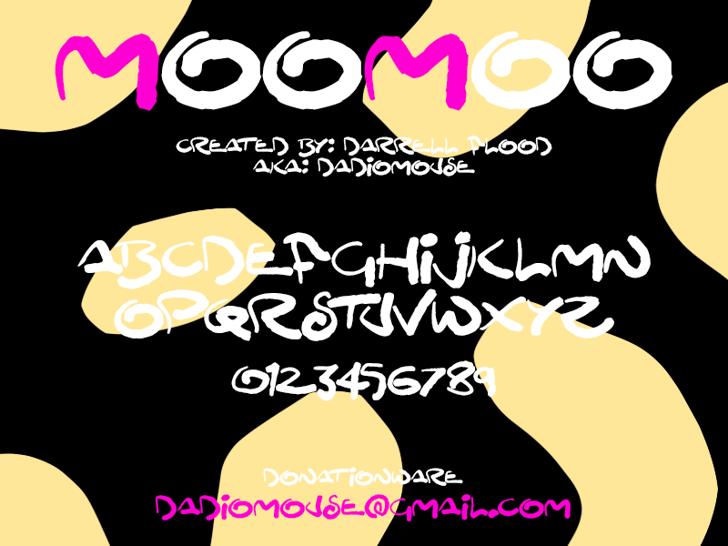 MooMoo Font cartoon text