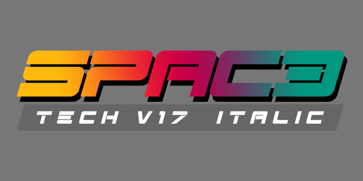 Spac3 - Tech v17 - Italic Font design screenshot