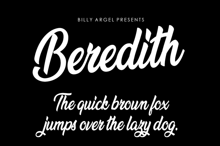 Beredith Personal Use Font text design