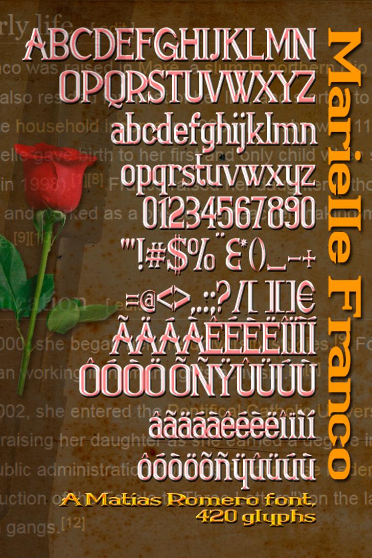 Marielle Franco Font poster text