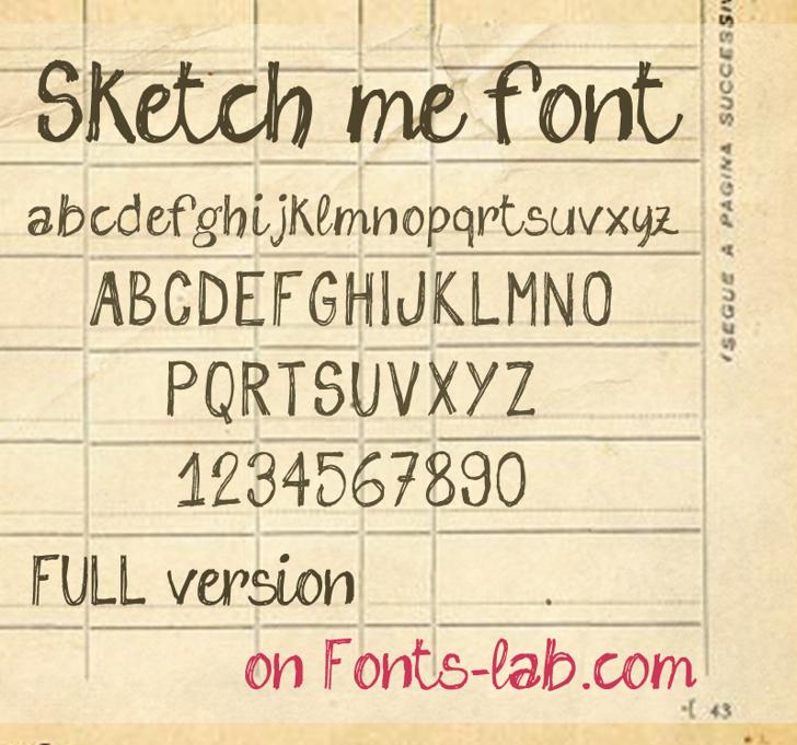 sketch me_FREE-version Font text handwriting