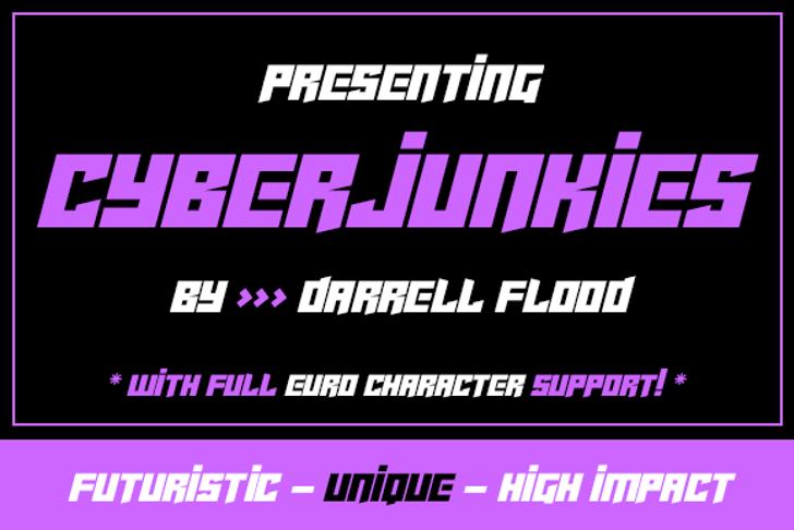 Cyberjunkies Font screenshot