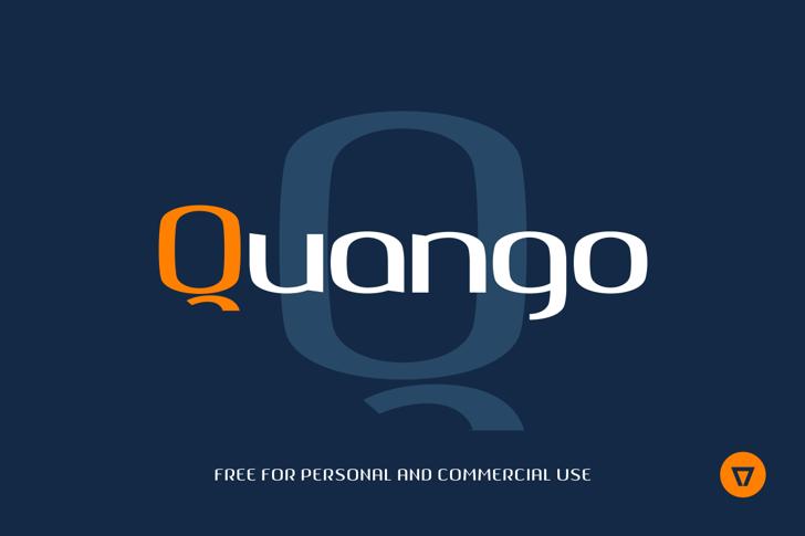 Quango Font design screenshot