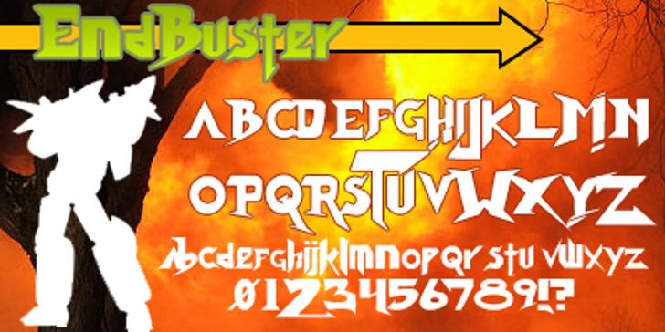 Endbuster Font poster screenshot