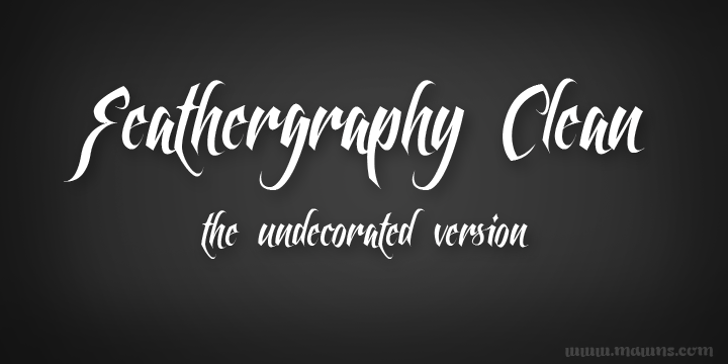 Feathergraphy Clean Font design typography