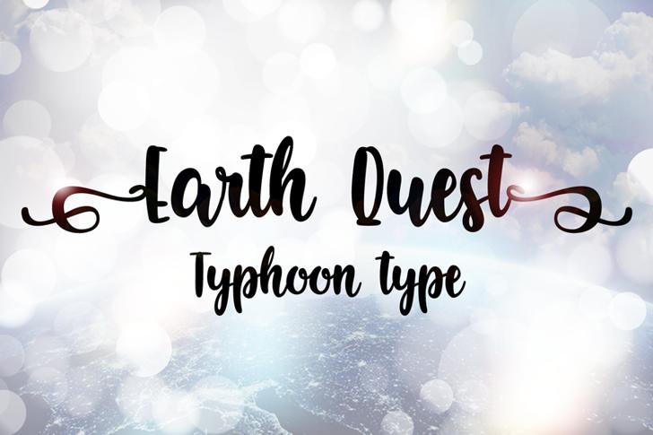 Earth Quest Font design text