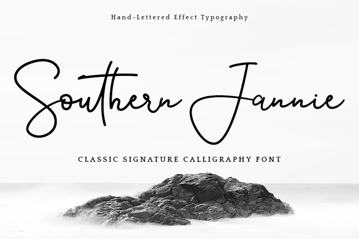 Southern Jannie Font poster