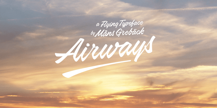 Airways PERSONAL USE ONLY Font sky outdoor