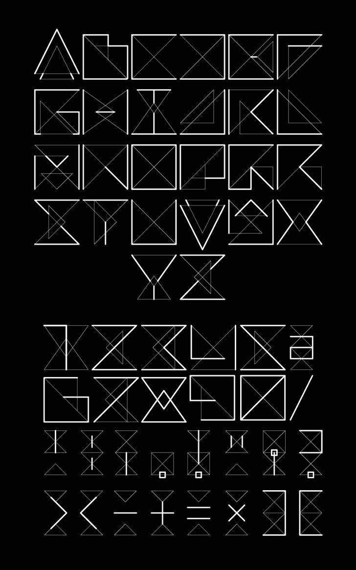 REMARK Font design drawing