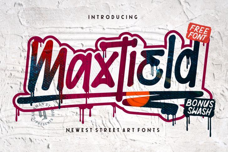 Maxtield Font text handwriting