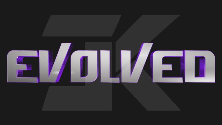 Evolved Font screenshot design