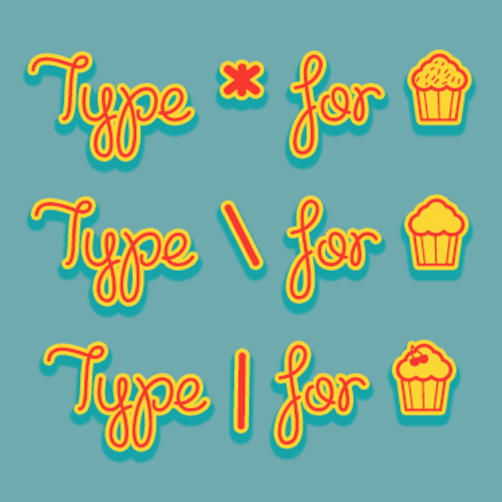 Cupcake Party Demo Font cartoon screenshot
