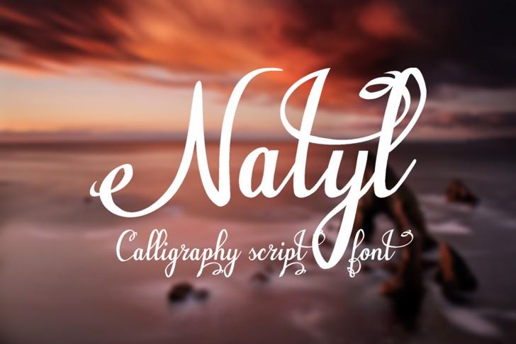 Natyl Font design typography