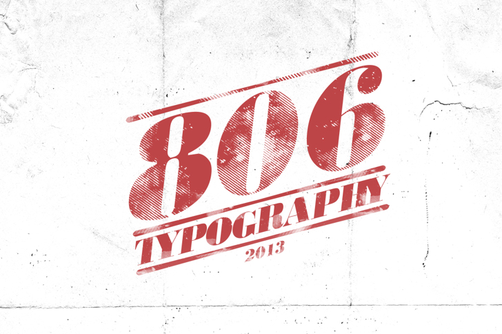 806 Typography Font text sign