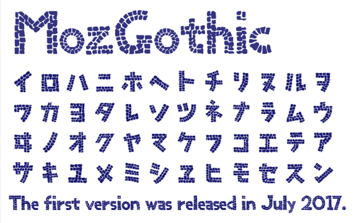 MozGothic Font font text
