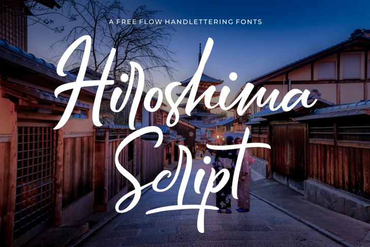 Hiroshima Script Font building sky