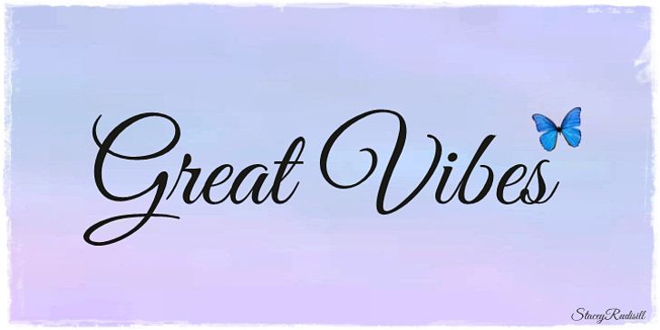 Great Vibes Font handwriting typography