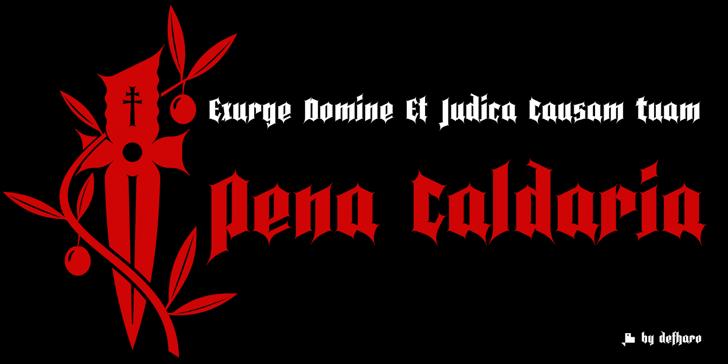 Pena Caldaria Font poster graphic