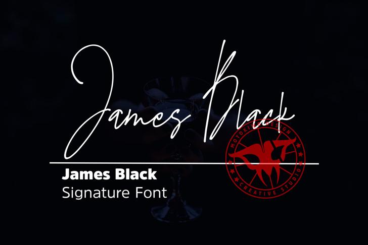 James Black font poster