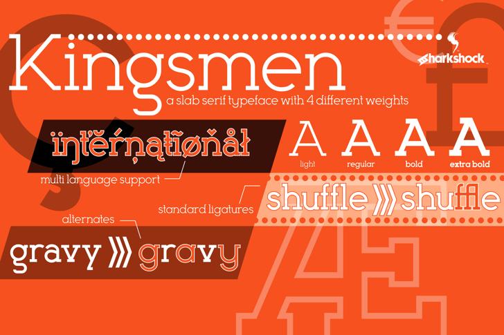Kingsmen Font screenshot text