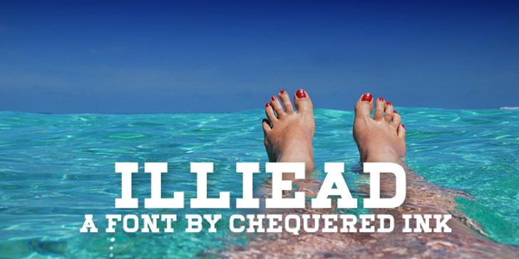 Illiead Font toes in ocean