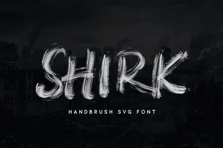 SHIRK Font typography text