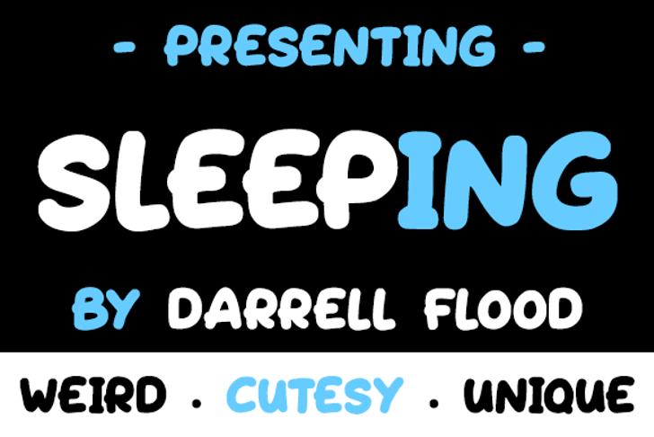 Sleeping Font screenshot font