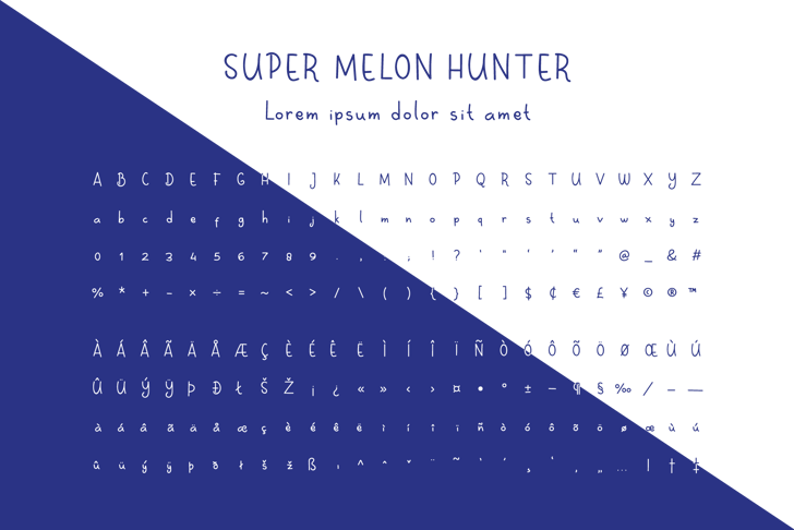 Super Melon Hunter Font poster