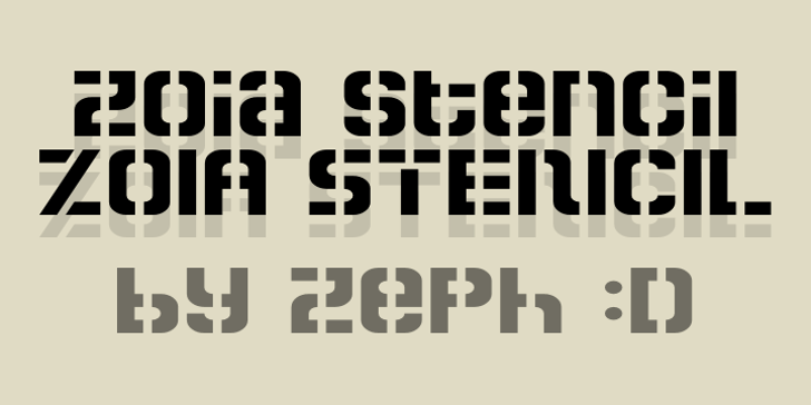 Zoia Stencil Font typography font
