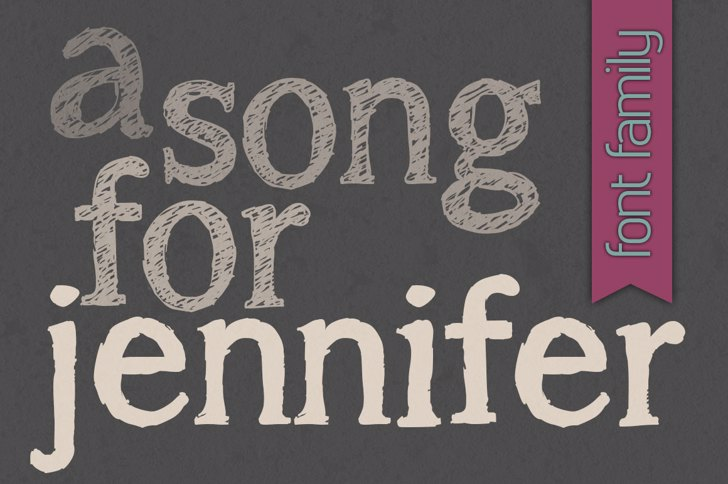 a song for jennifer Font handwriting typography