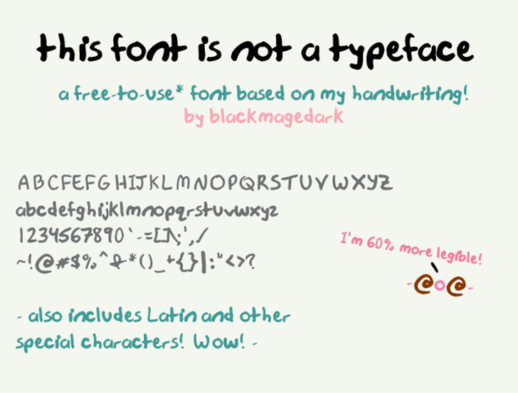 this font is not a typeface Font text typography