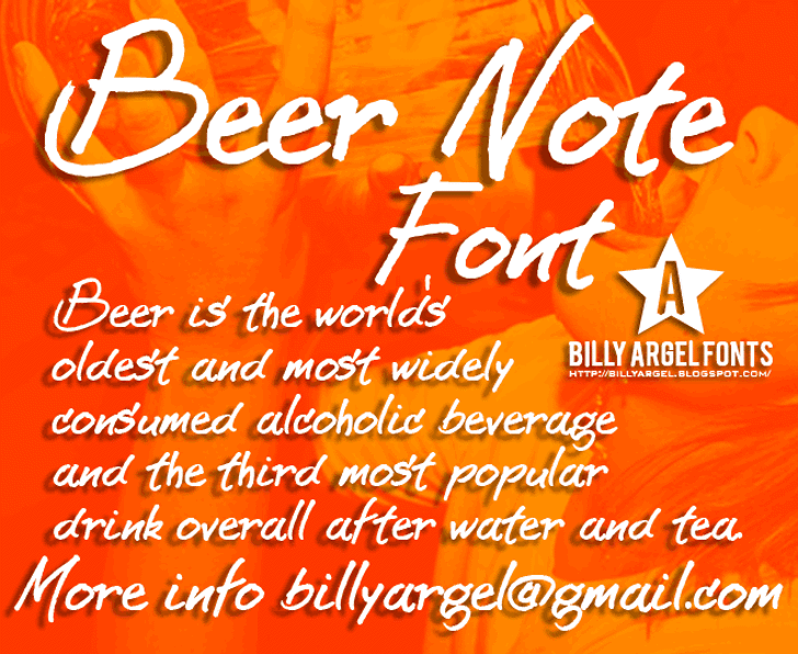 BEER NOTE  Font text design