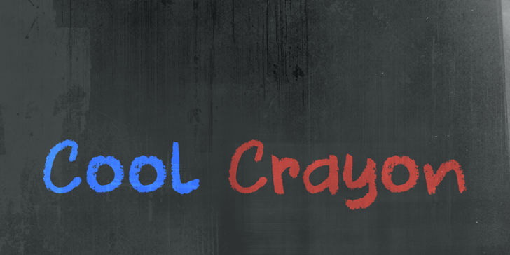 DK Cool Crayon Font handwriting blackboard