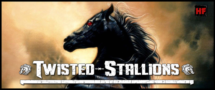 Twisted Stallions Font horse poster