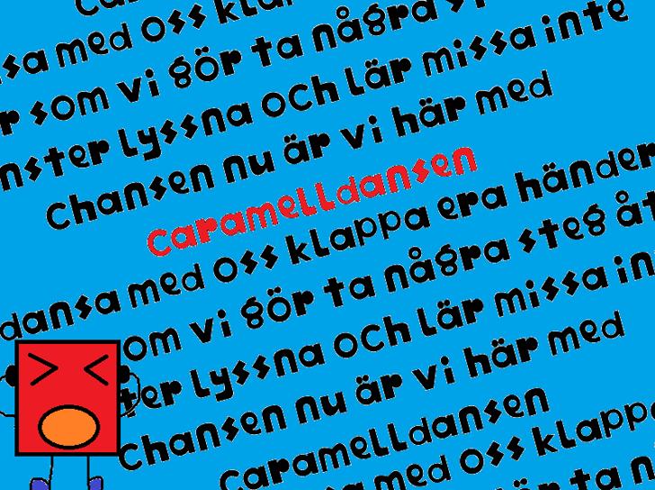 Caramelldansen Font screenshot text