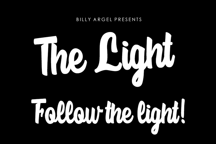 The Light Personal Use Font text design