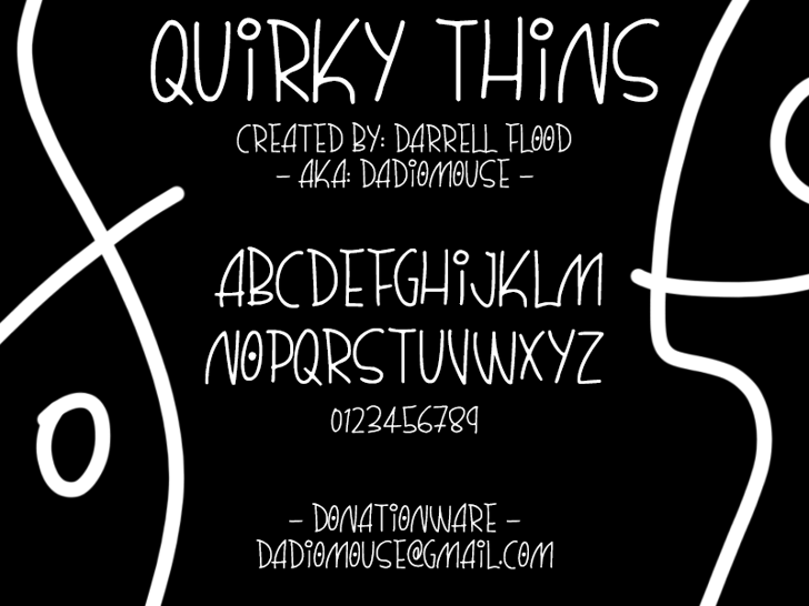 Quirky Thins Font text book