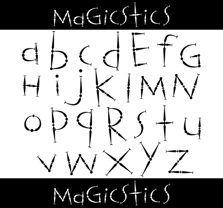 Magicstics Font handwriting design