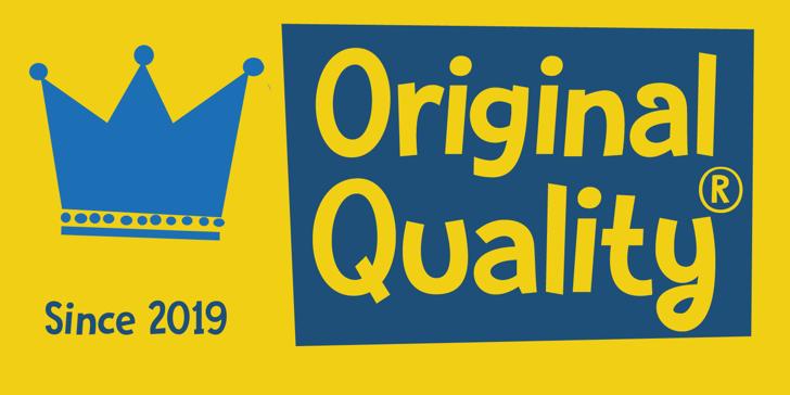Original Quality DEMO Font poster