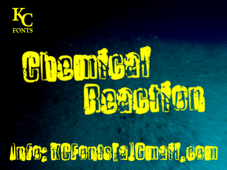 Chemical Reaction Font screenshot text