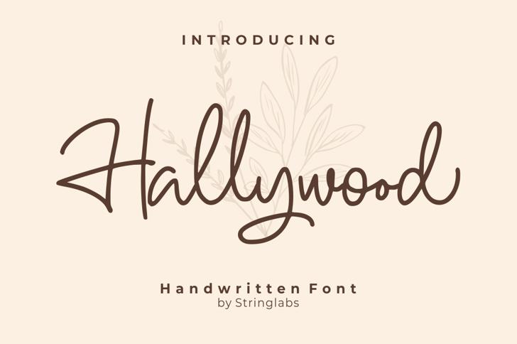 Hallywood Font poster